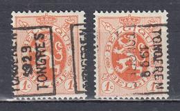 4980 Voorafstempeling Op Nr 276 - TONGEREN 1929 TONGRES - Positie A & B - Roller Precancels 1920-29