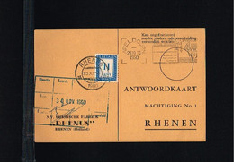1960 - Netherlands Reply Card - 11ct Postage Due [A86_040] - Brieven En Documenten