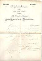 MARINE Et COLONIES - Ordre Du Major De La Marine De ROSTAING - CHERBOURG (MANCHE)- 1850 - Historical Documents
