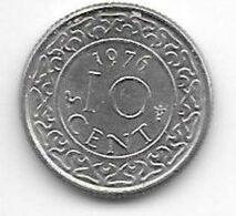 *suriname 10  Cents 1976  Km 13  Unc/ms63 - Surinam 1975 - ...