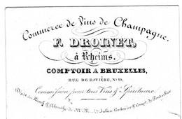 Carte Porcelaine CHAMPAGNE F.Droinet à Rheims Rue De Bavière - Champagne & Sparkling Wine