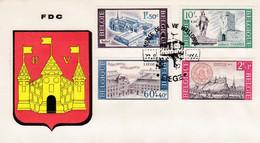 Enveloppe FDC 1385 à 1388 Culturelle - 1961-70