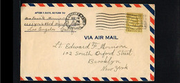 1933 - USA Cover - Incl Letter About LA Earthquake [B09_032] - Brieven En Documenten