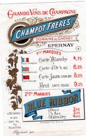 CHAMPAGNE Champot Frères Domaine Du Chènêt Epernay Blue Ribbon - Champagne & Sparkling Wine