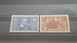 LOT525836 TIMBRE DE FRANCE NEUF** LUXE N°318/319 - Unused Stamps