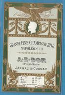 SUP - CP Grande Fine Champagne 1848 A.E. DOR à JARNAC (Charente) - Début Xxème. - Unclassified
