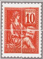 France - Cadeau De Philaposte - 10c Type Mouchon - Les 4 Encarts (ceci N'est Pas Un Timbre) - Neuf ** - 1900-02 Mouchon