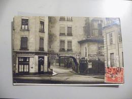 A480 . CPA. 69. LYON.Carte Photo. (Rhone). Café Comptoir Du Pont D'Ainay.beau Plan Animé  .écrite & Voyagée 1908 - Lyon 5