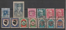 ALGERIA:  1938/48  VARI  -  INSIEME  13  VAL. L. + US. -  YV/TELL. 137//269 - Used Stamps