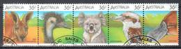 Australia 1986 - Animals - Mi.988-92 - Strip Of 5 - Used - Used Stamps