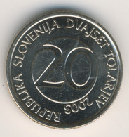 SLOVENIA 2003: 20 Tolarjev, KM 51 - Eslovenia