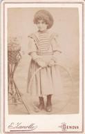 Photo Foto - Formato CDV - Altra Ragazza Con Cerchio - Years '1880 - Erminio Zanollo, Genova - Oud (voor 1900)