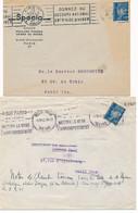 P-403: FRANCE: Lot Avec  4 Enveloppes (Pétain) - Brieven En Documenten