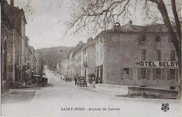 SAINT PONS : Avenue De Castres- Hôtel Belot - Saint-Pons-de-Thomières