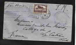 MAROC   Enveloppe Par Avion  + Affranchissement Insufisant + Regt Zouave Oblit  CASABLANCA 1929  Pour Le Cateau  Nord - Otros - África