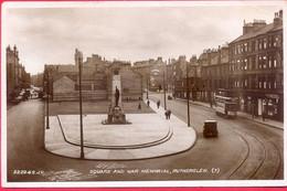 Great Britain UK SCOTLAND 1930s Post Card RUTHERGLEN 1d Edward VIII 1936 Stamp Sent To USA - Lanarkshire / Glasgow