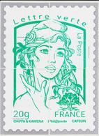 France - Cadeau De Philaposte - Lettre Verte - CIAPPA Et KAWENA - Les 4 Encarts (ceci N'est Pas Un Timbre) Neuf ** - 2013-... Marianne (Ciappa-Kawena)