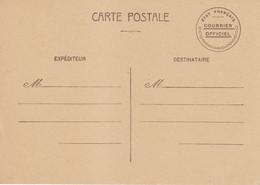 CP Courrier Officiel Etat Francais Non Circulée Pétain - 1921-1960: Moderne