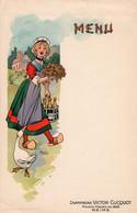 3 Cartes Menu CHAMPAGNE Lanson Père &Fils  Victor Clicquot Illustr. H.Durand Imp. Bouquet - Champagne & Sparkling Wine