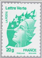 France - Cadeau De Philaposte - Lettre Verte - Beaujard - Les 4 Encarts (ceci N'est Pas Un Timbre) Neuf ** - 2008-13 Marianne (Beaujard)
