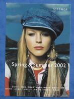 CPM Mode Publicité TOPSHOP Spring And Summer 2002 Pin Up Manequin Casquette Jeans - Fashion