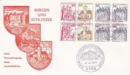 FDC  Heft 26 Burgen Und Schlösser Erster Verwendungstag Neuer Markenheftchen 1.6.1977, Glücksburg (Ostsee) - FDC: Briefe
