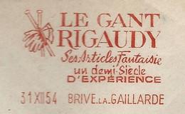 EMA // LE GANT RIGAUDY // BRIVE LA GAILLARDE . 1954 - EMA (Printer Machine)