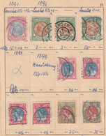 NEDERLAND. 1891-1920. 2 Sides Of Different Perforration. Se Description - Used Stamps