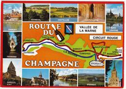 LA  ROUTE Du CHAMPAGNE : VALLEE De LA MARNE     CIRCUIT ROUGE    De DORMANS à TOURS-sur-MARNE (écusson) - Vigne
