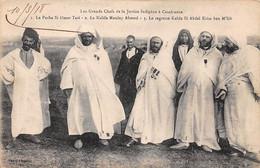 Maroc - N°70921 - Les Grands Chefs De La Justice Indigène à CASABLANCA - Le Pacha Si Omar Tazi ... - Casablanca