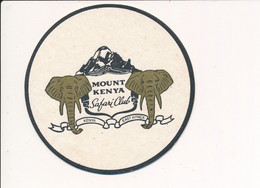 SOUS BOCK  MOUNT KENYA Safari Club Kenya East Africa ( éléphant Afrique ) ( Recto Verso ) - Bierdeckel