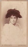 2 Photos Foto - Formato CDV - Figlia Con Cappello, (2 Foto Uguali) - Years '1880/90 - Gustavo Luzzati, Genova - Anciennes (Av. 1900)