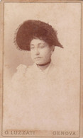 Photo Foto - Formato CDV - Altra Figlia Con Cappello  - Years '1880/90 - Gustavo Luzzati, Genova - Anciennes (Av. 1900)