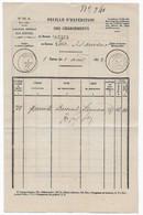 Curiosité Postale Document Des Postes Expédition Des Chargements 1862 Bureau De TARBES HAUTE PYRENEES - 1849-1876: Période Classique