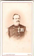 Photographie Ancienne Par Habersetzer à Sens, Portrait Du Capitaine Hugo, 82e De Ligne, Médaille Du Mexique, Cdv Ca 1875 - Antiche (ante 1900)