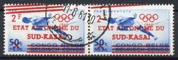 Sud Kasai - Congo - COB 18-Cu - 50c. Jeux Olympique Curiosité Double Surcharge (oblique) - Oblitéré Bakwanga - A5 - South-Kasaï
