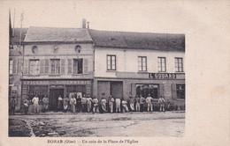 """BORAN """" TOP CARTE , Coin De La Place De L'eglise """"     N°7333 - Boran-sur-Oise"""