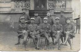 ALLEMAGNE - BAD EMS - Occupation Française 1919  Carte Photo Officiers Et Sous Officiers Compagnie 13 - Bad Ems