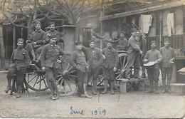ALLEMAGNE - BAD EMS - Occupation Française 1919 Très Rare  Carte Photo De La Roulante Et Ses Cuistots Très Beau Plan - Bad Ems