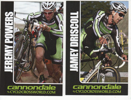 2 CARTES DE POWERS ET DRISCOLL  CANNONDALE CYCLO CROSS - Cycling