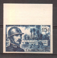 Colonel Driant YT 1052 De 1956 Rare Sans Trace Charnière - Imperforates