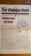 DAS SCHWARZE KORPS 15 JANVIER 1942 JOURNAL ALLEMAND  8 PAGES - 1939-45
