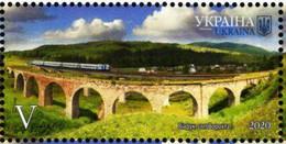 Ukraine - 2020 - Beauty And Greatness Of Ukraine - Ivano-Frankivsk Region - Vorokhta Viaduct - Mint Stamp - Ucraina