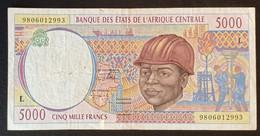 AC2020 - Central African Republic 1998 Banknote 5000 Francs L - Gabon - Gabon