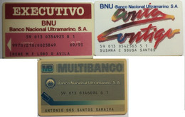 PORTUGAL : 3 BANKING CARDS As Pictured USED - Portugal