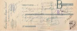 Lettre Change 19/5/1913 TESTUT Instruments Pesage CORBEIL ESSONNES Seine Et Oise Timbre + Cachet Fiscal - Lettres De Change