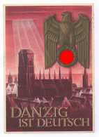 Danzig Ist Deutsch Ent. Gottfried Klein WHW Kriegs Postkarte 6+4 Pf. Aufgedruckt Nach Ulm - Gebruikt