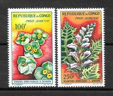 """CONGO Afrique : """"Flore"""" Poste Aérienne 8 à 9 **  TB (cote 10,30 €) - Ongebruikt"""