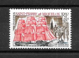 """St PIERRE & MIQUELON : """"Voilier""""  N° 397 **  TB (cote 40,oo €) - Ongebruikt"""