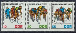 DDR 1977 / MiNr.    2216 - 2218  Dreierstreifen   ** / MNH  (s481) - Nuevos